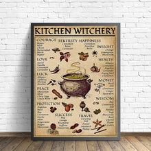 Load image into Gallery viewer, Kitchen Witchery Canvas Print