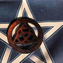 Load image into Gallery viewer, Celtic Knot  / Pentacle Wooden Altar Tile