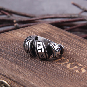 Spiral Viking Rune Ring
