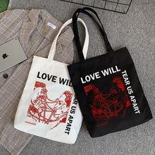 Load image into Gallery viewer, Love Will Tear Us Apart Canvas Bag