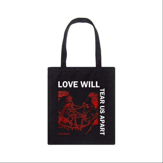 Love Will Tear Us Apart Canvas Bag