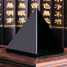 Load image into Gallery viewer, Natural Obsidian Quartz Crystal Healing Pyramid