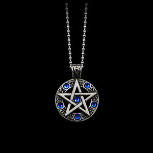 Vintage Witch Pentagram Pentacle Necklace