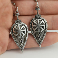 Load image into Gallery viewer, Viking Slavic Shield Earrings