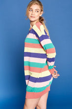 Load image into Gallery viewer, Multi-colored Striped Knit Sweater Dress