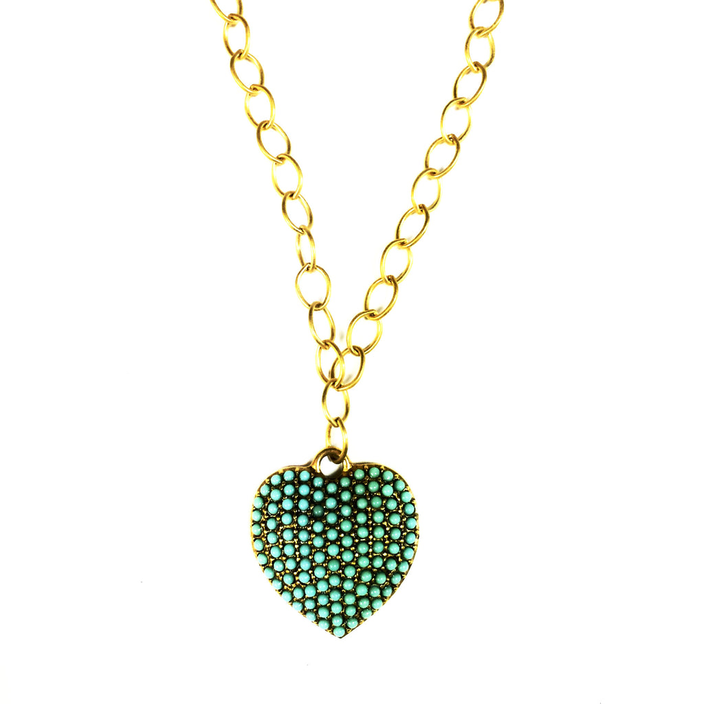 N804G Victorian turquoise heart