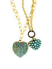 N811 medium studded heart