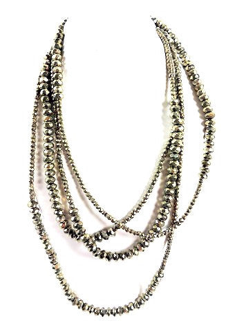 N875P Loooooong pyrite wrap necklace