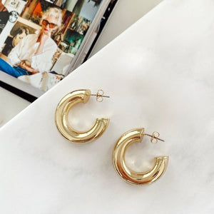 Gold Tube Mini Hoops