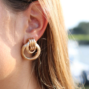 Knotted Gold Earrings