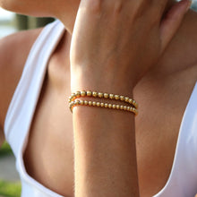 Load image into Gallery viewer, Gold Ball Bracelets (set of 2)
