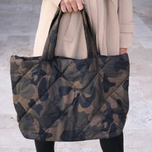 Load image into Gallery viewer, Medium Camo Quilted Tote