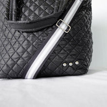 Load image into Gallery viewer, Large Black Quilted Tote