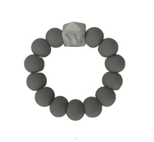 Load image into Gallery viewer, Silicone Beaded Teether Grey