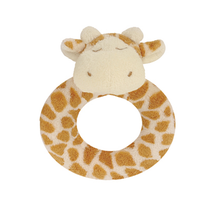 Load image into Gallery viewer, Plush Animal Rattle Giraffe