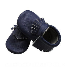 Load image into Gallery viewer, Leather Moccasins Navy