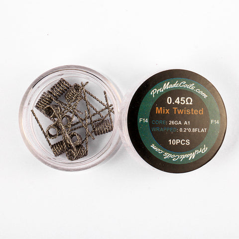 Mix Twisted 0.45 Ohm Pre-Made Coils