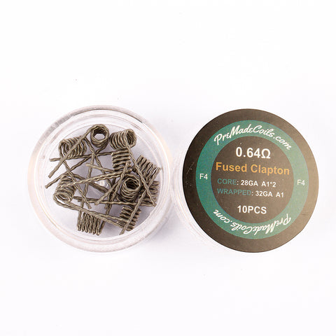 Fused Clapton 0.64 Ohm Pre-Made Coils