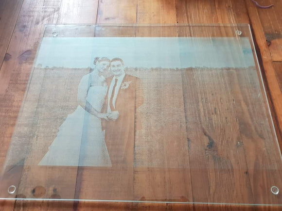 Engraved Glass Chopping Board