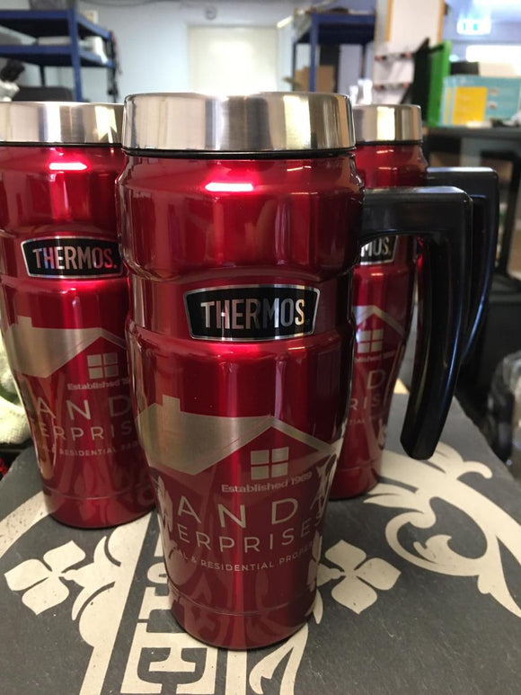 Custom Engraved Thermos King Mug