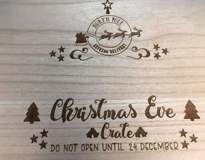 Custom Engraved Wooden Christmas Eve box V2