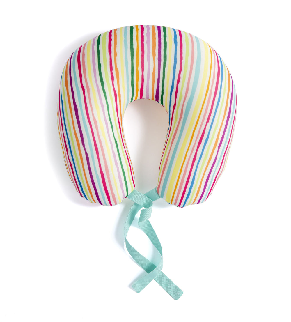 ORLA NECK PILLOW AND EYE MASK TRAVEL SET,STRIPE