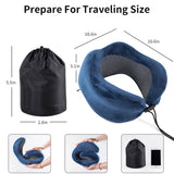 Folding Slow Rebound Inflatable Neck Pillow
