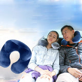 U shape Pillows Inflatable Neck Pillow Sleep
