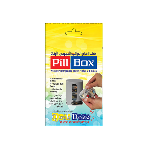 Qwik Doze - Tower Pillbox for 7 days X 4 Times