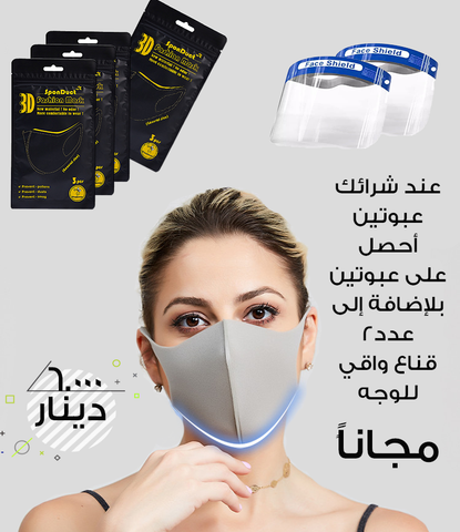 3 fashionable Re-washable fabric face mask