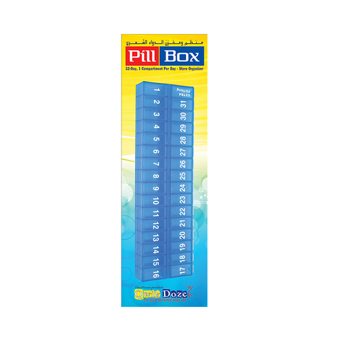 Qwik Doze - Pill Box 32 Compartments
