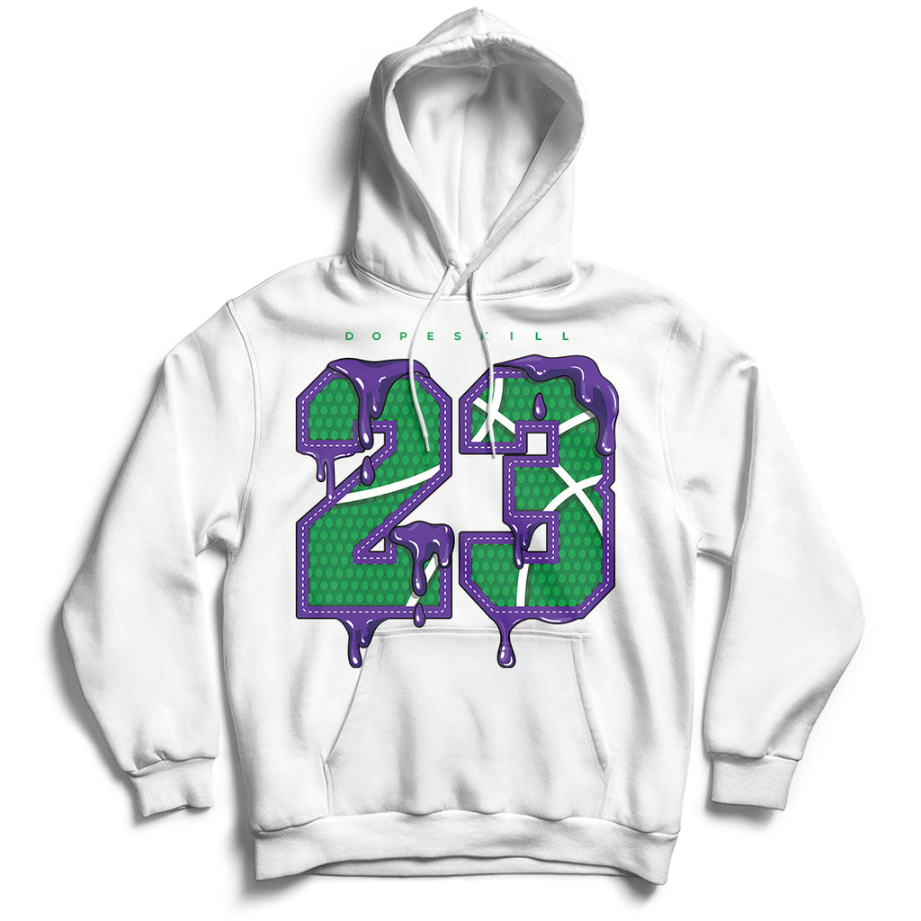 23 Unisex Hoodie Match Air Jordan 1 Aloe Verde Court Purple