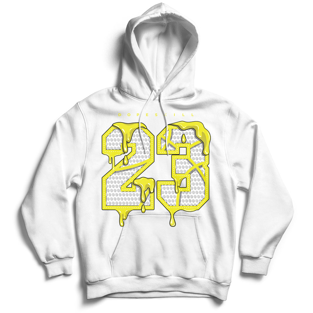 23 Unisex Hoodie Match Jordan 1 Mid Flower Yellow