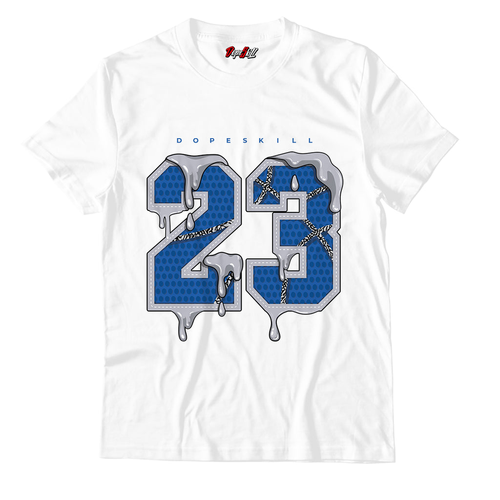 23 Unisex TShirt Match Air Jordan 3 Varsity Royal