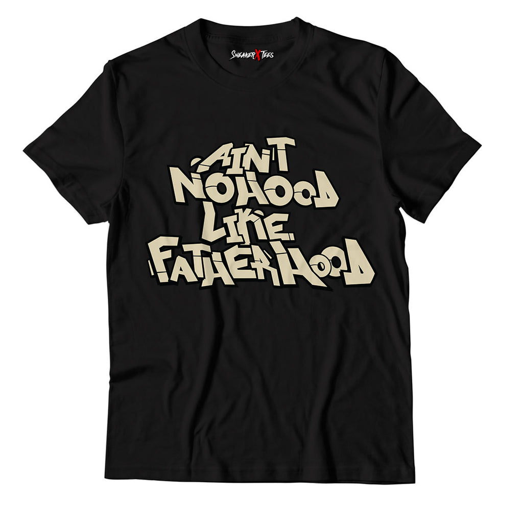 Ain't No Hood Like Fatherhood Unisex TShirt Match Yeezy Slide