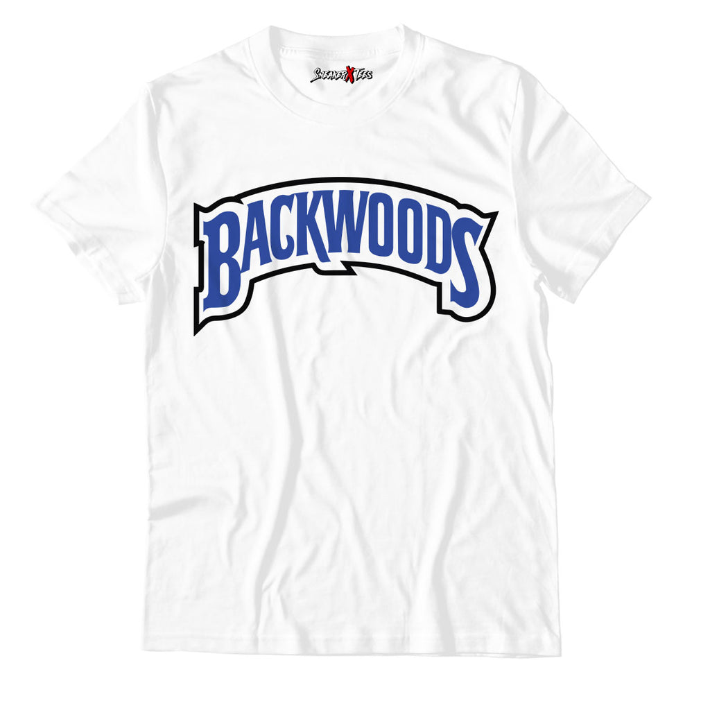 Backwoods White Unisex TShirt Match Air Jordan 14 Royal