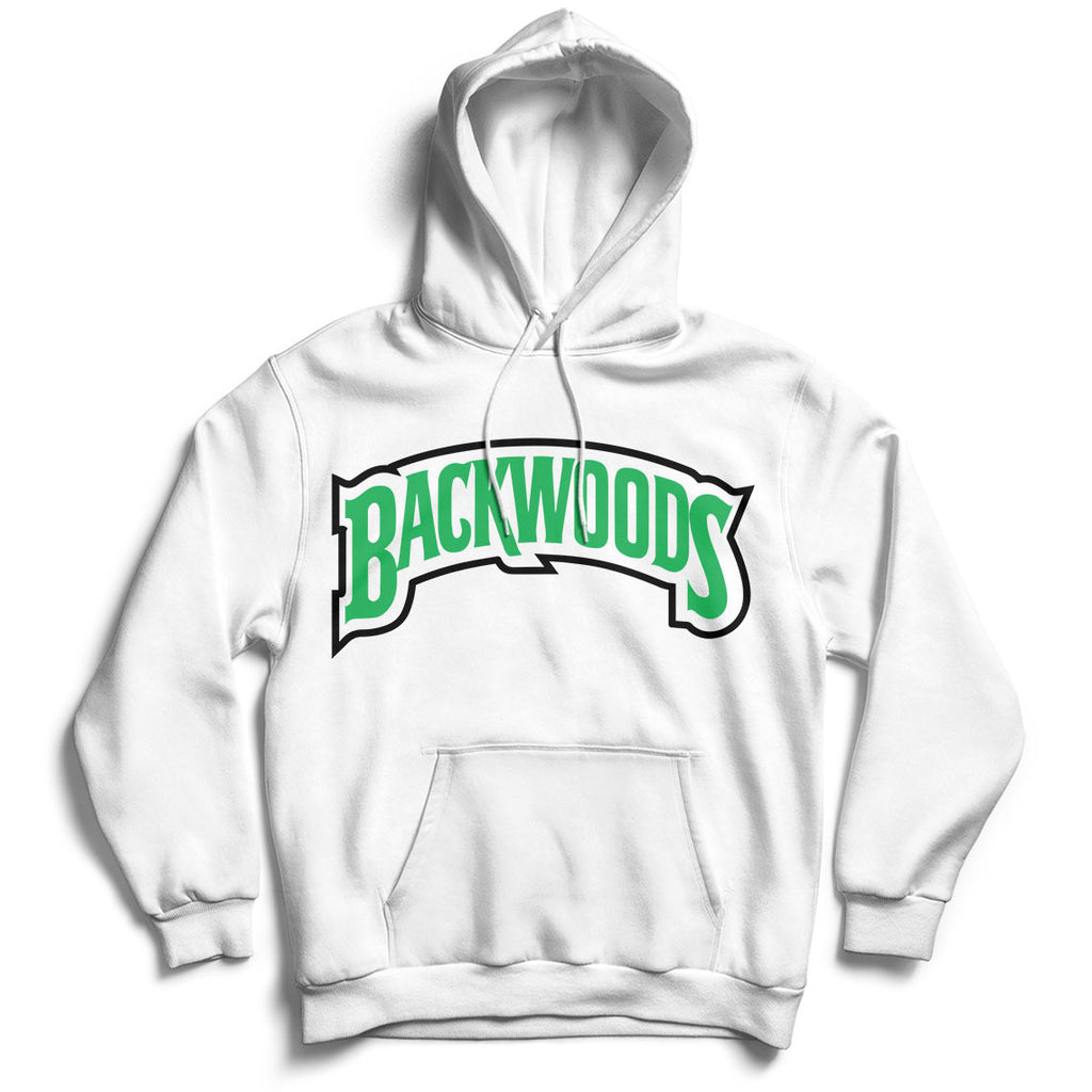 Backwoods White Unisex Hoodie Match Jordan Retro1 WMNS Lucky Green