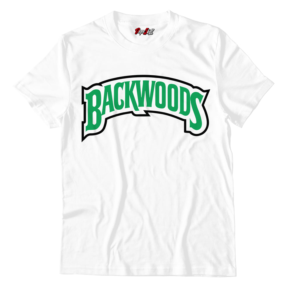 "Backwoods White Unisex TShirt Match Air Jordan 13 ""Lucky Green"""