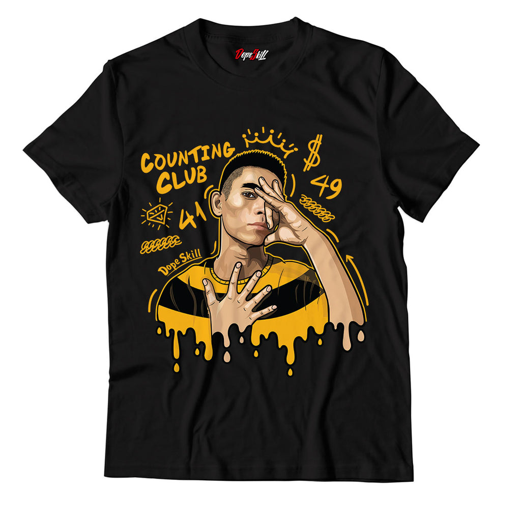 Counting Club Unisex TShirt Match Jordan 12 Retro Black University Gold