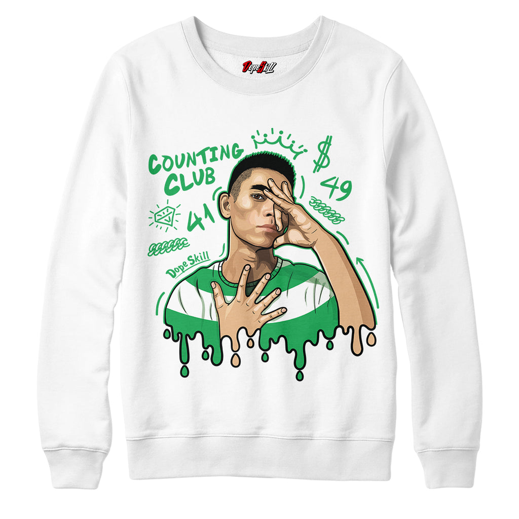 "Counting Club Crewneck Sweatshirt Air Jordan 13 ""Lucky Green"""