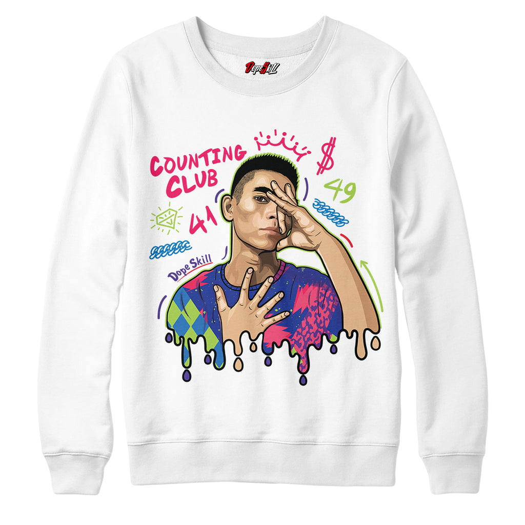"Counting Club Crewneck Sweatshirt Air Jordan 5 ""Bel-Air"""