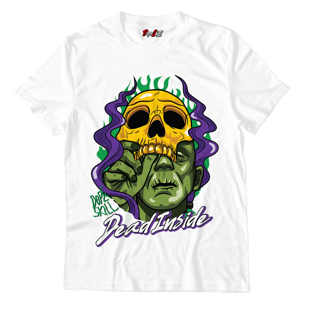 Dead Inside Unisex TShirt Air Jordan 1 Aloe Verde Court Purple