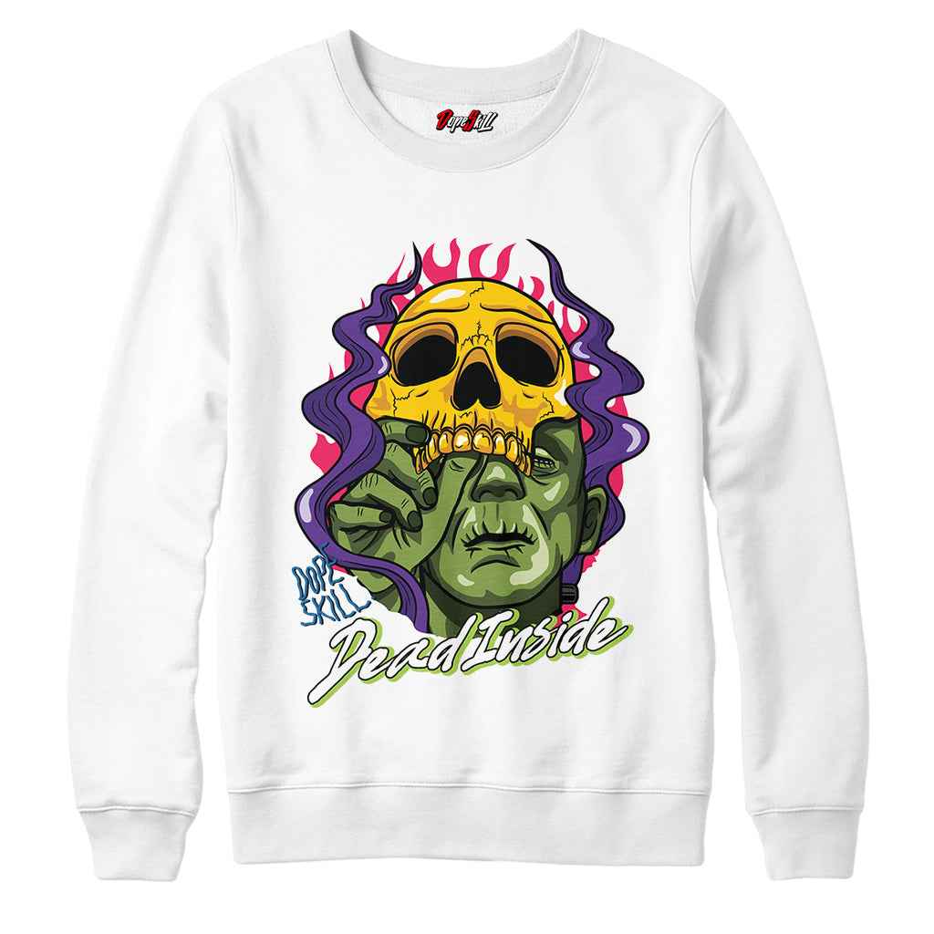 "Dead Inside Crewneck Sweatshirt Match Air Jordan 5 ""Bel-Air"""