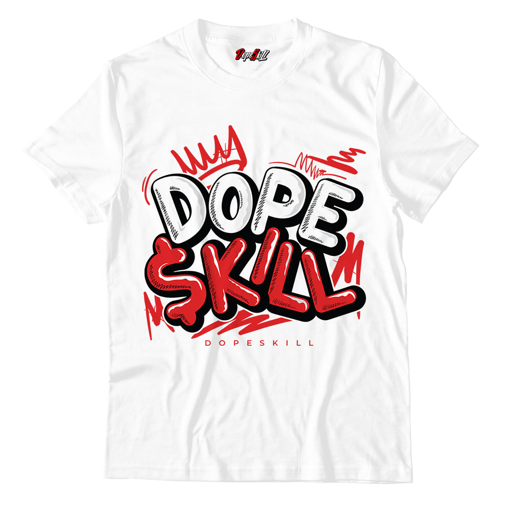 Dope Skill Unisex TShirt Match Jordan 1 Mid Chicago Toe - Jordan 1 Retro High Satin Snake Chicago