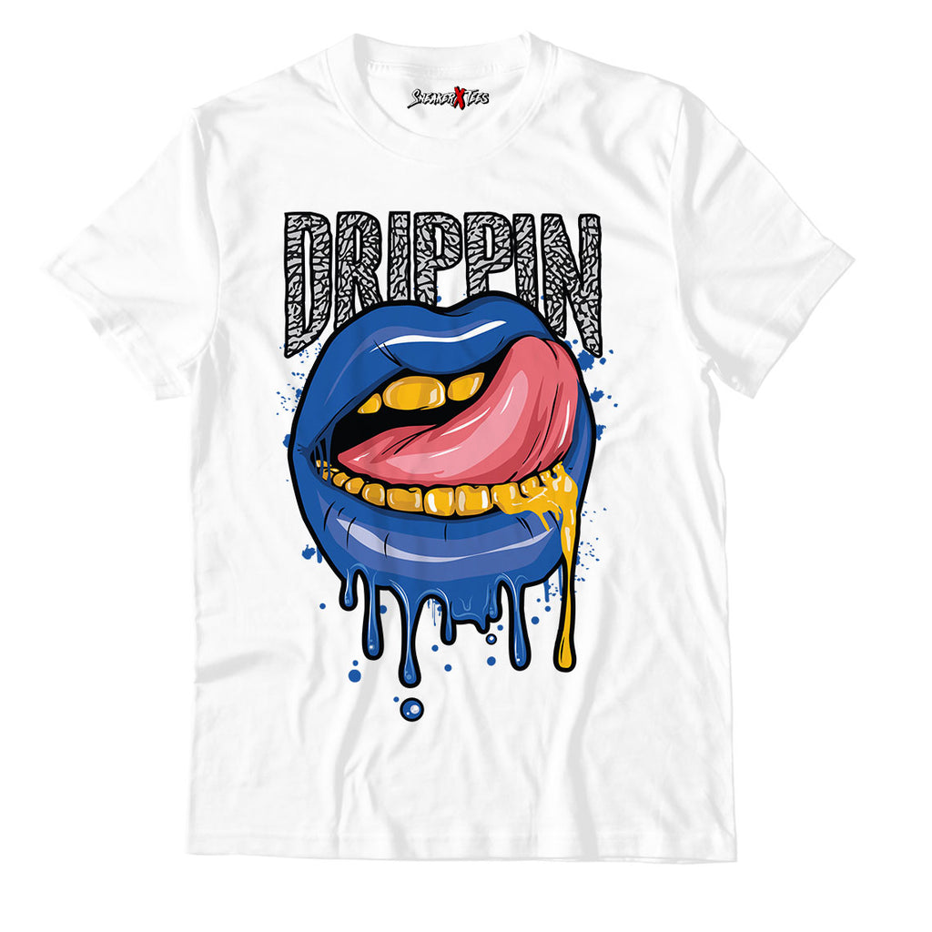 Drippin White Unisex TShirt Match Air Jordan 3 Varsity Royal