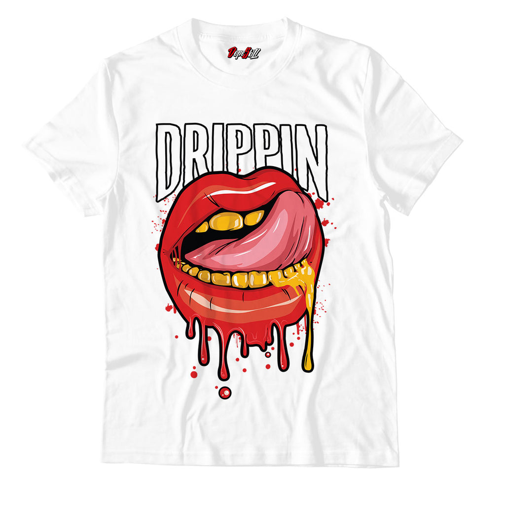 Drippin Unisex TShirt Jordan 1 Mid Chicago Toe - Jordan 1 Retro High Satin Snake Chicago