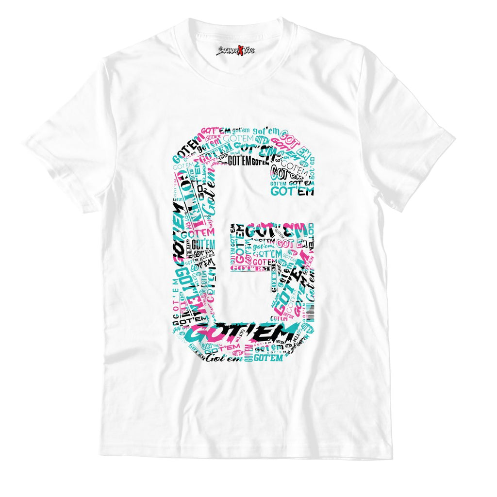 Got'em White Unisex TShirt Match Air Jordan 8 Retro 'South Beach'