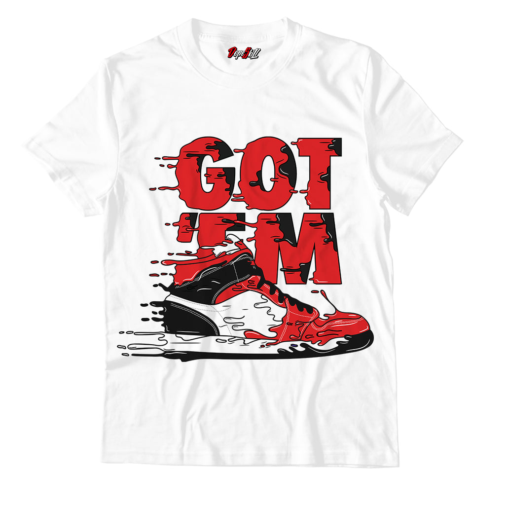 Got 'em Unisex TShirt Match Jordan 1 Mid Chicago Toe - Jordan 1 Retro High Satin Snake Chicago