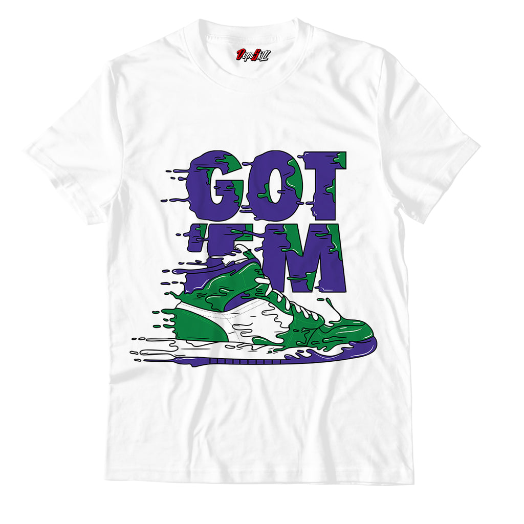 Got 'em Unisex TShirt Match Air Jordan 1 Aloe Verde Court Purple
