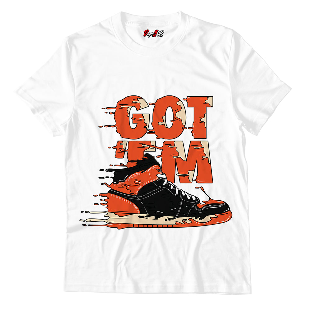 Got 'em White Unisex TShirt Match Jordan 1 Retro High OG Sneakers